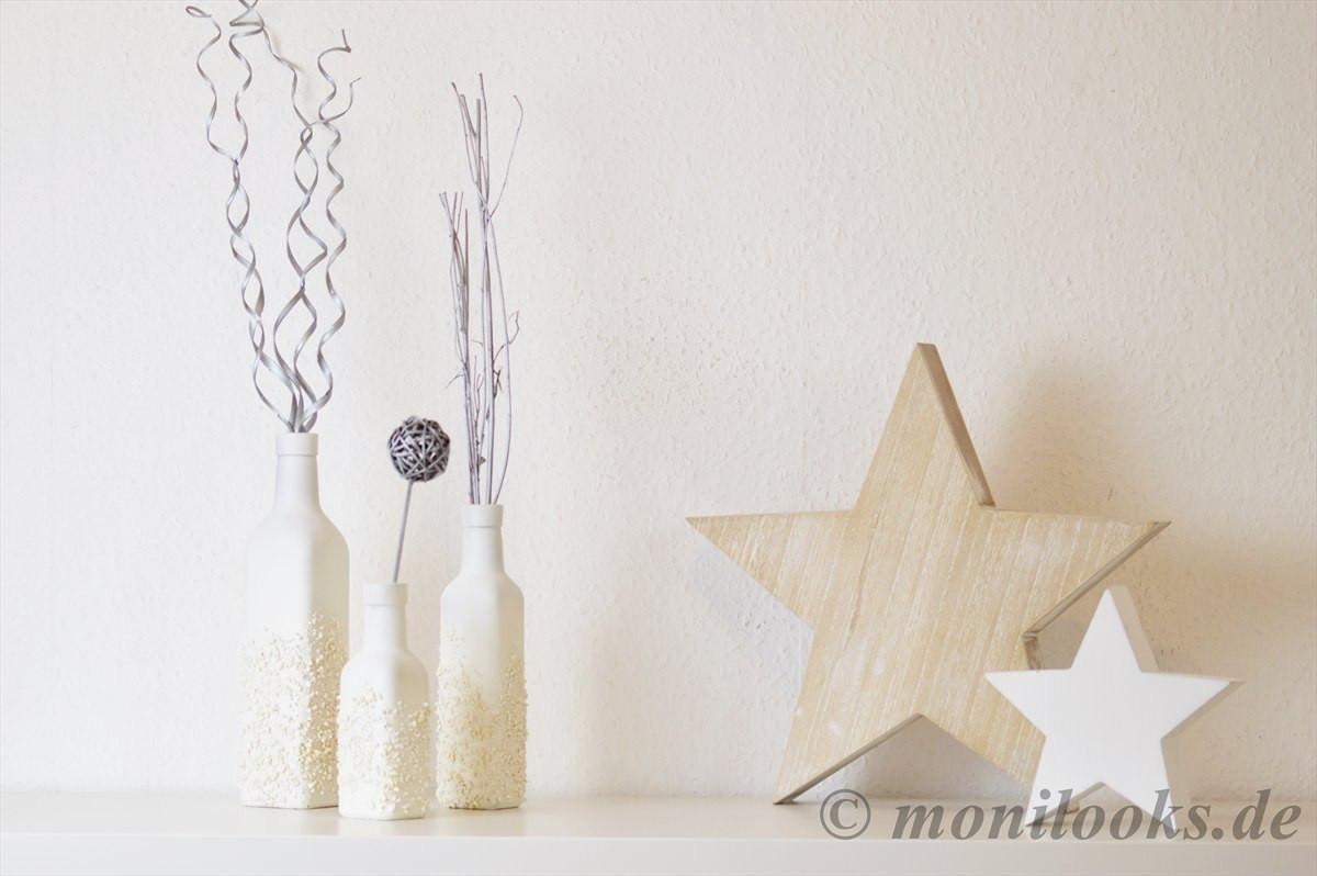 Winter Deko Diy  DIY Deko Winterliche Vasen selbstgemacht
