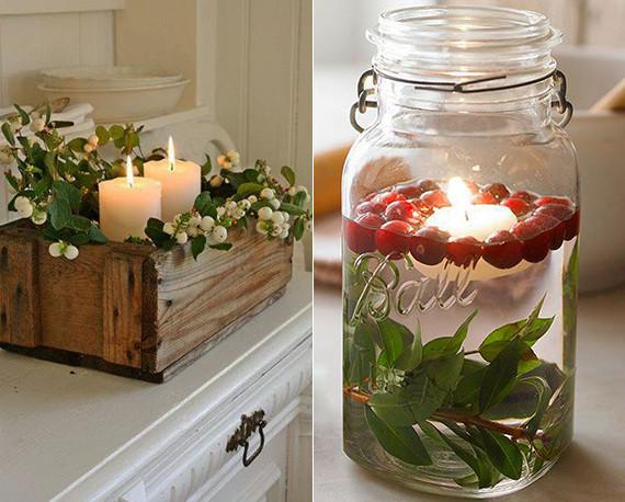 Winter Deko Diy  Kerzen Dekoideen für mehr Romantik in den kalten