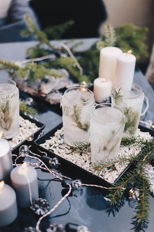 Winter Deko Diy  Eis Teelichter – Winter DIY für draußen und kalte Tage