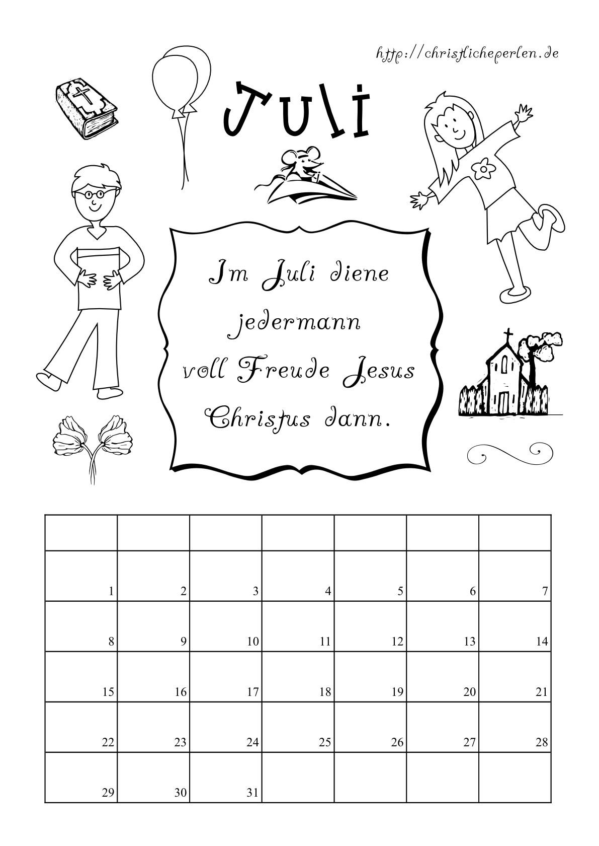 Wochentage Ausmalbilder  Kalender zum Ausdrucken und Ausmalen