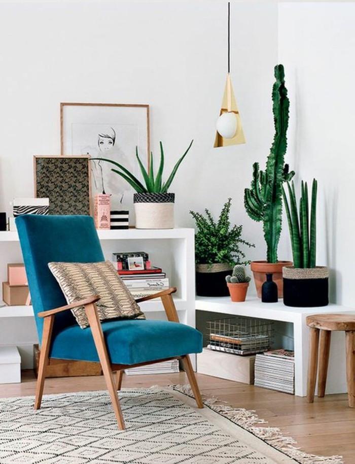Wohnzimmer Pflanzen  Inspirierende Dekoideen kleiner Innen Gartenbereich