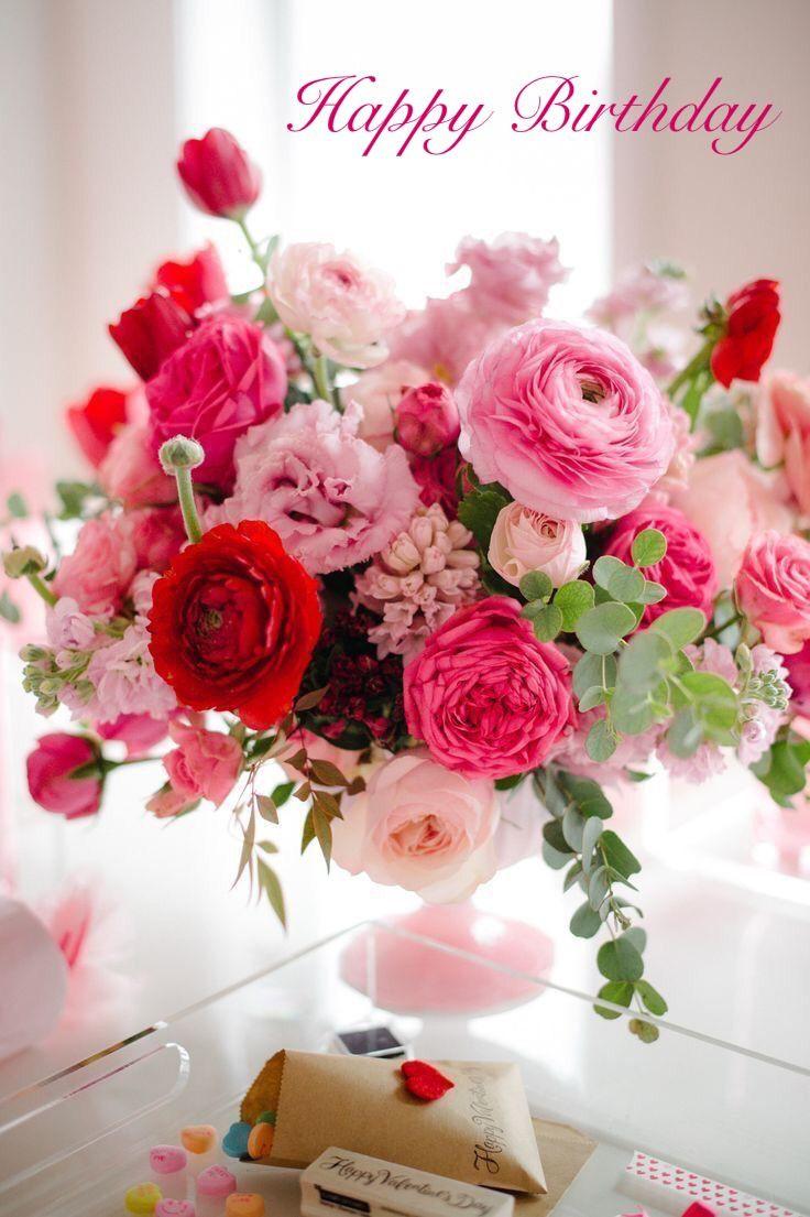 Wunderschöne Geburtstagsbilder  Happy Birthday bouquet