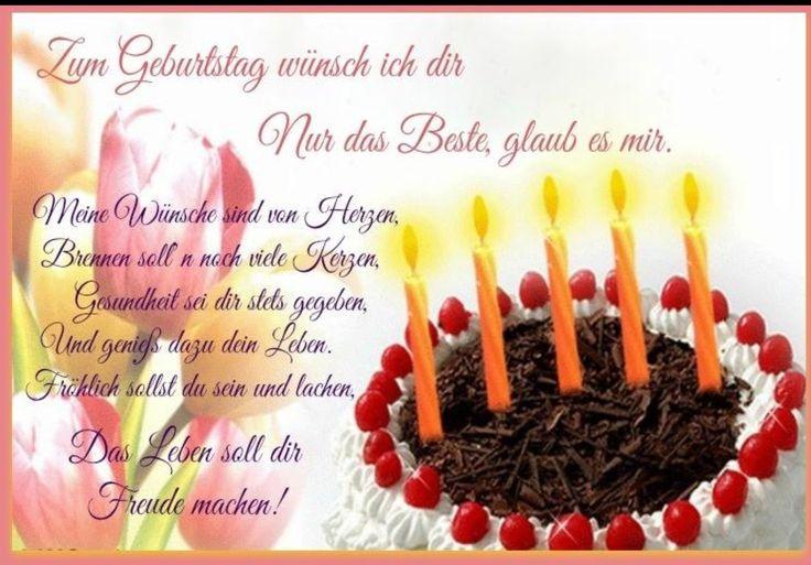 Wunderschöne Geburtstagsbilder  Pin von Mary Poppins auf Birthday & Grüße Pinterest