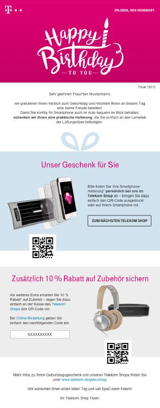 Www.Telekom.De/Geburtstagsgeschenk  Gelöst Geburtstagsgeschenk einlösen