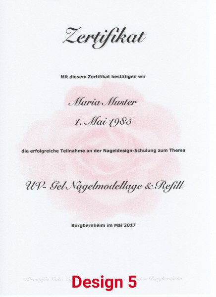 Zertifikat Nageldesign  XXXL Profi Nagelmodellage Schulung e NailArt 7