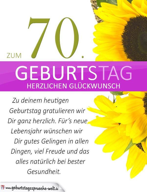Zitate Zum 75 Geburtstag  Glückwünsche zum 70 Geburtstag • Geburtstagssprüche 70