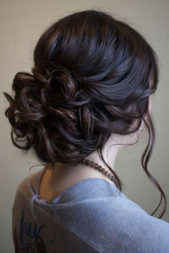 Abschlussfeier Frisuren  Hochsteckfrisur für mittellanges Haar