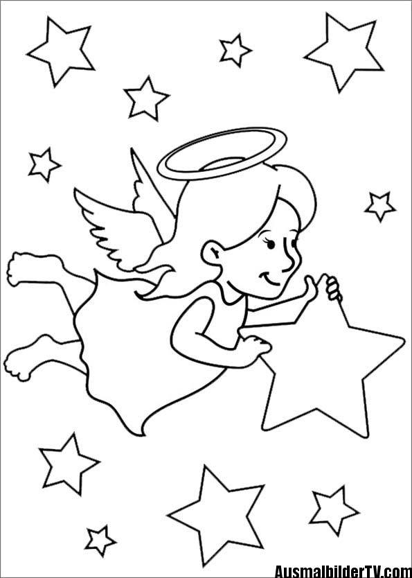 Ausmalbilder Adventskranz  ausmalbilder weihnachten engel