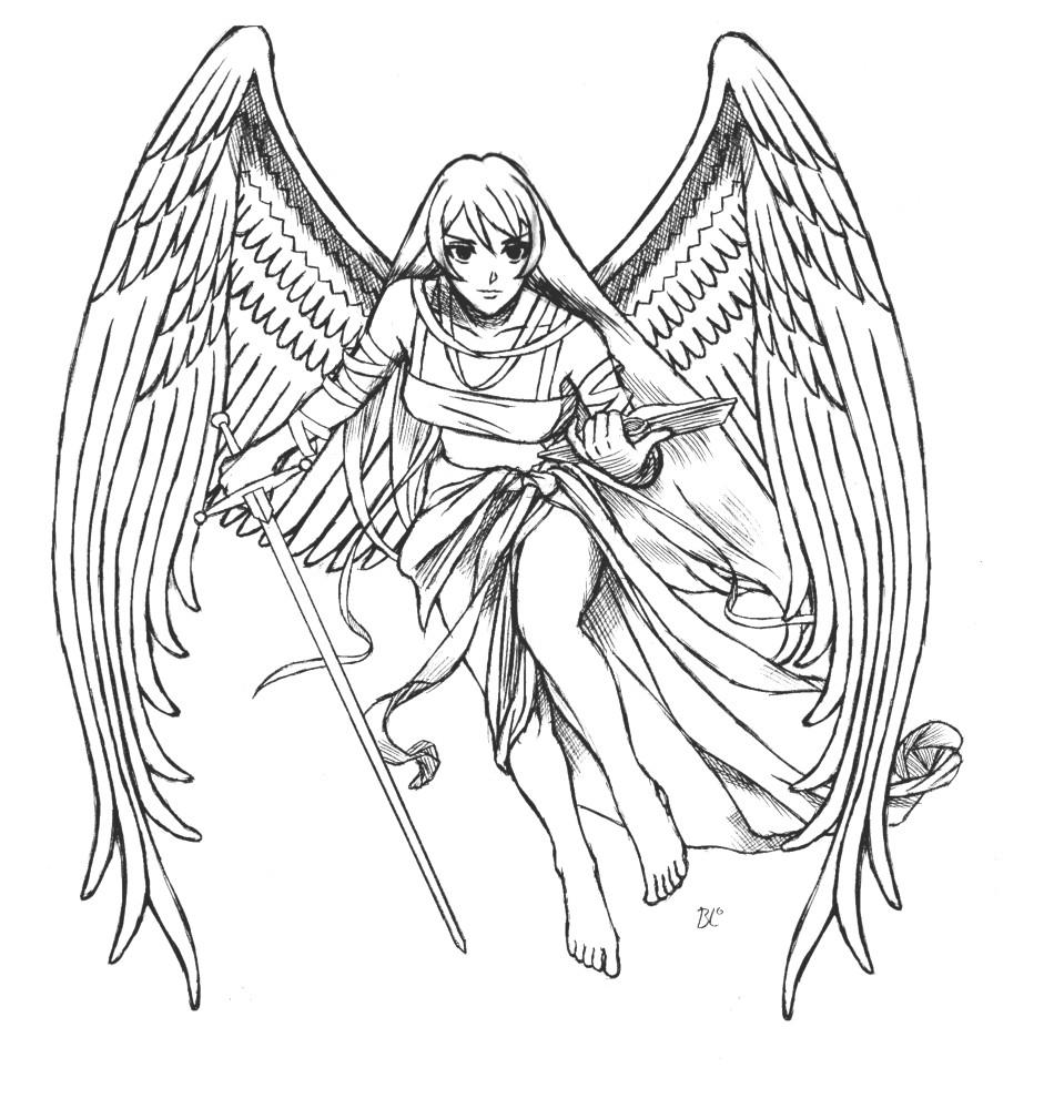 Ausmalbilder Anime Engel  Ausmalbilder Anime Engel 288 Malvorlage Alle Ausmalbilder