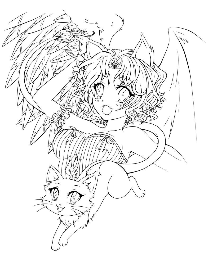 Ausmalbilder Anime Engel  Malvorlagen Fur Kinder Ausmalbilder Schutzengel