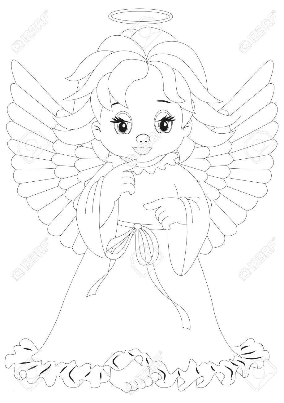 Ausmalbilder Anime Engel  Engelsbilder CosmixProject
