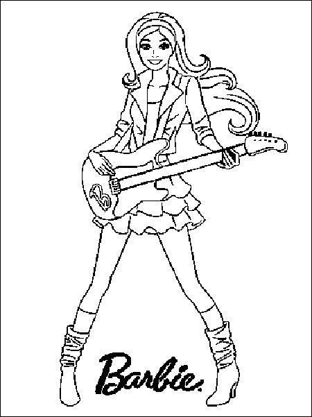 Ausmalbilder Barbie  Ausmalbilder Barbie 13