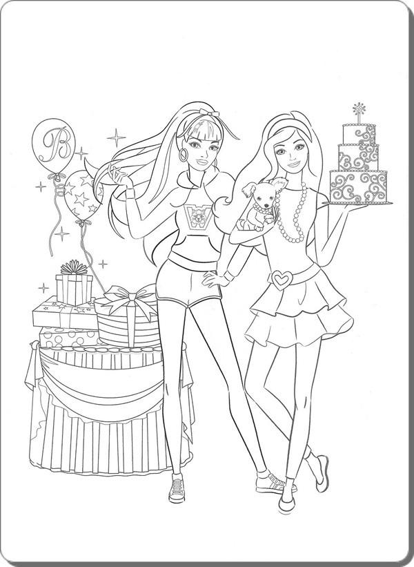 Ausmalbilder Barbie  Ausmalbilder zum Ausdrucken Ausmalbilder Barbie