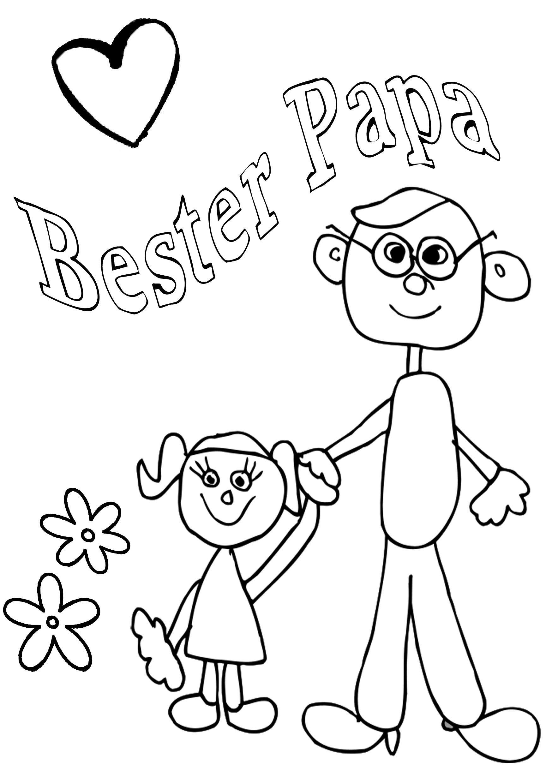 Ausmalbilder Geburtstag Papa  Ausmalbilder Papa Geburtstag Beste zoe
