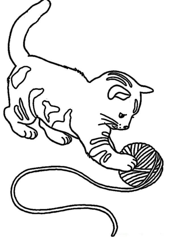Ausmalbilder Katzen Kostenlos  Ausmalbilder katze kostenlos Malvorlagen zum ausdrucken