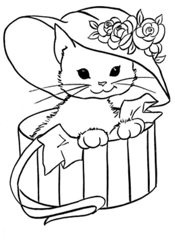 Ausmalbilder Katzen Kostenlos  Ausmalbilder Katzen 28