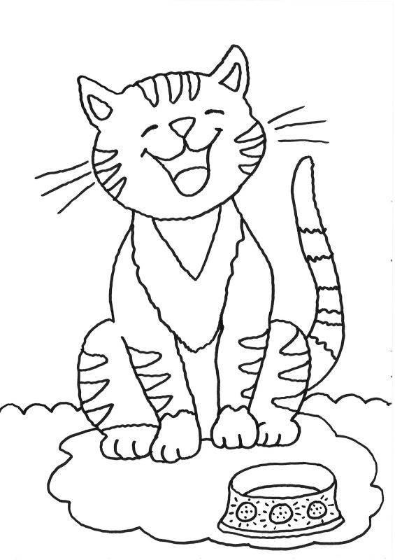 Ausmalbilder Katzen Kostenlos  Kostenlose Ausmalbilder und Malvorlagen Katzen zum