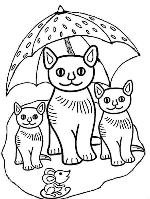 Ausmalbilder Katzen Kostenlos  Ausmalbilder Kostenlos Katze 2 Ausmalbilder Kostenlos
