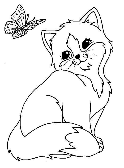 Ausmalbilder Katzen Kostenlos  Katzen Ausmalbilder Mehr 124 Malvorlage Katzen