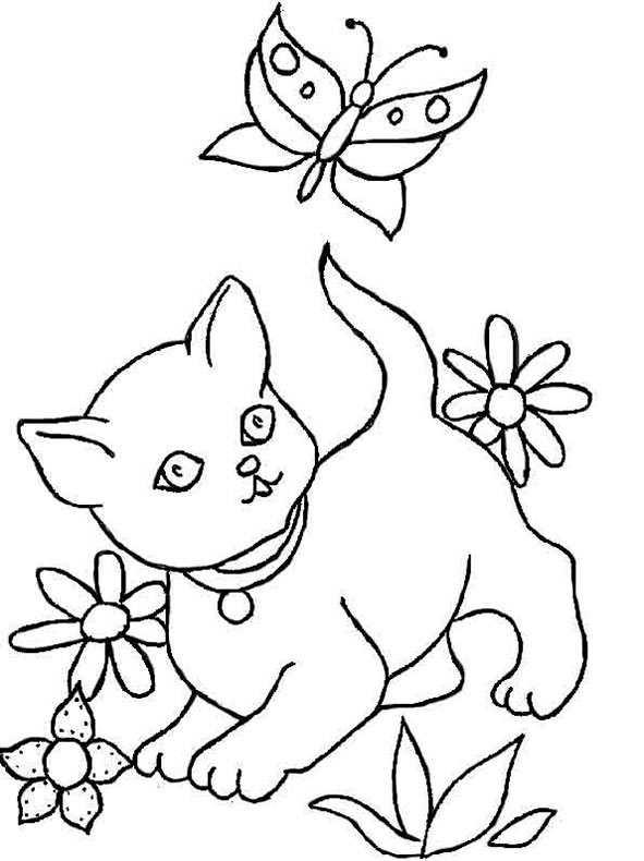 Ausmalbilder Katzen Kostenlos  ausmalbilder kostenlos katze 6