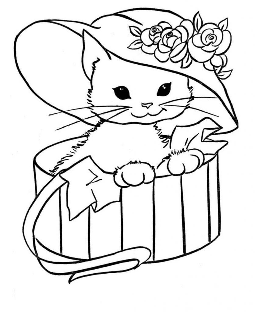 Ausmalbilder Katzen Kostenlos  Gratis Malvorlagen Katzen Zum Ausdrucken
