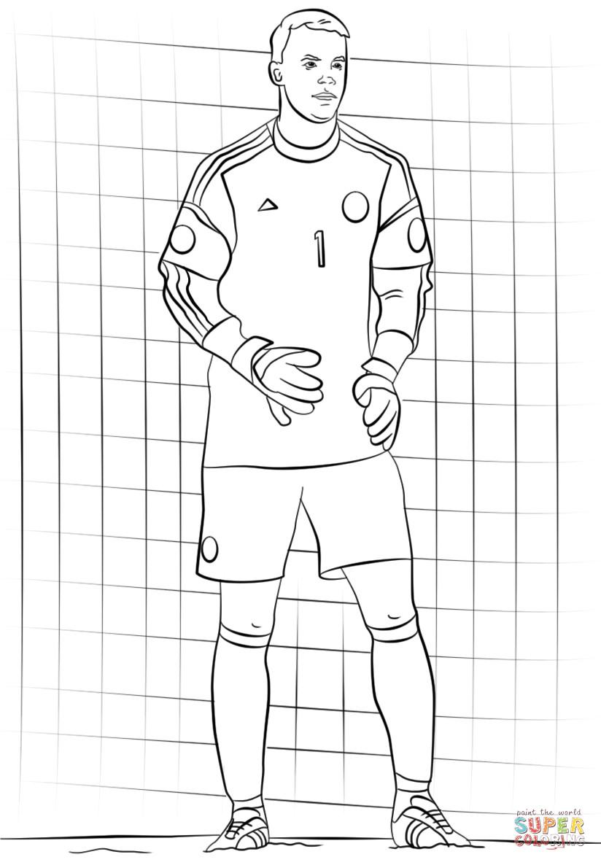 Ausmalbilder Manuel Neuer  Ausmalbild Manuel Neuer