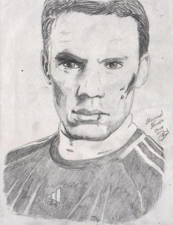 Ausmalbilder Manuel Neuer  Manuel Neuer Ausmalbild