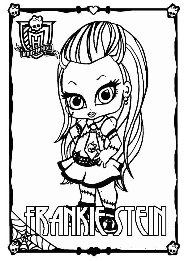 Ausmalbilder Monster High Frankie Stein  Ausmalbilder Monster High 21