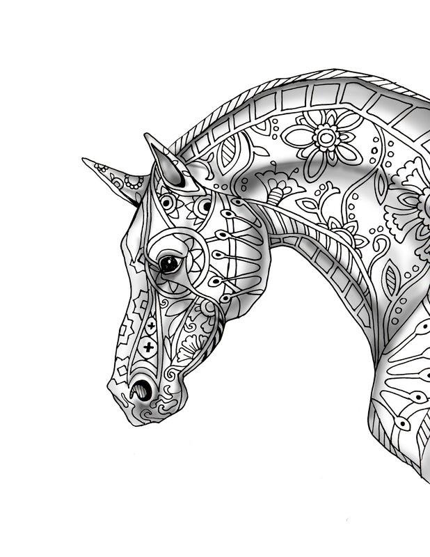 20 besten ausmalbilder pferde für erwachsene  beste