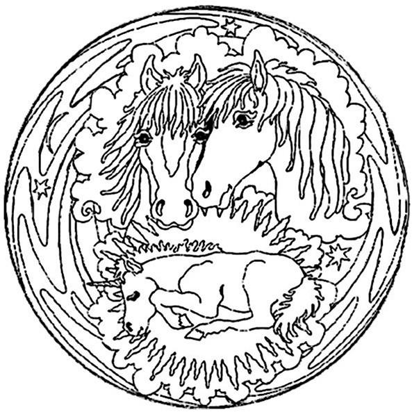 top 20 ausmalbilder pferde mandala  beste wohnkultur