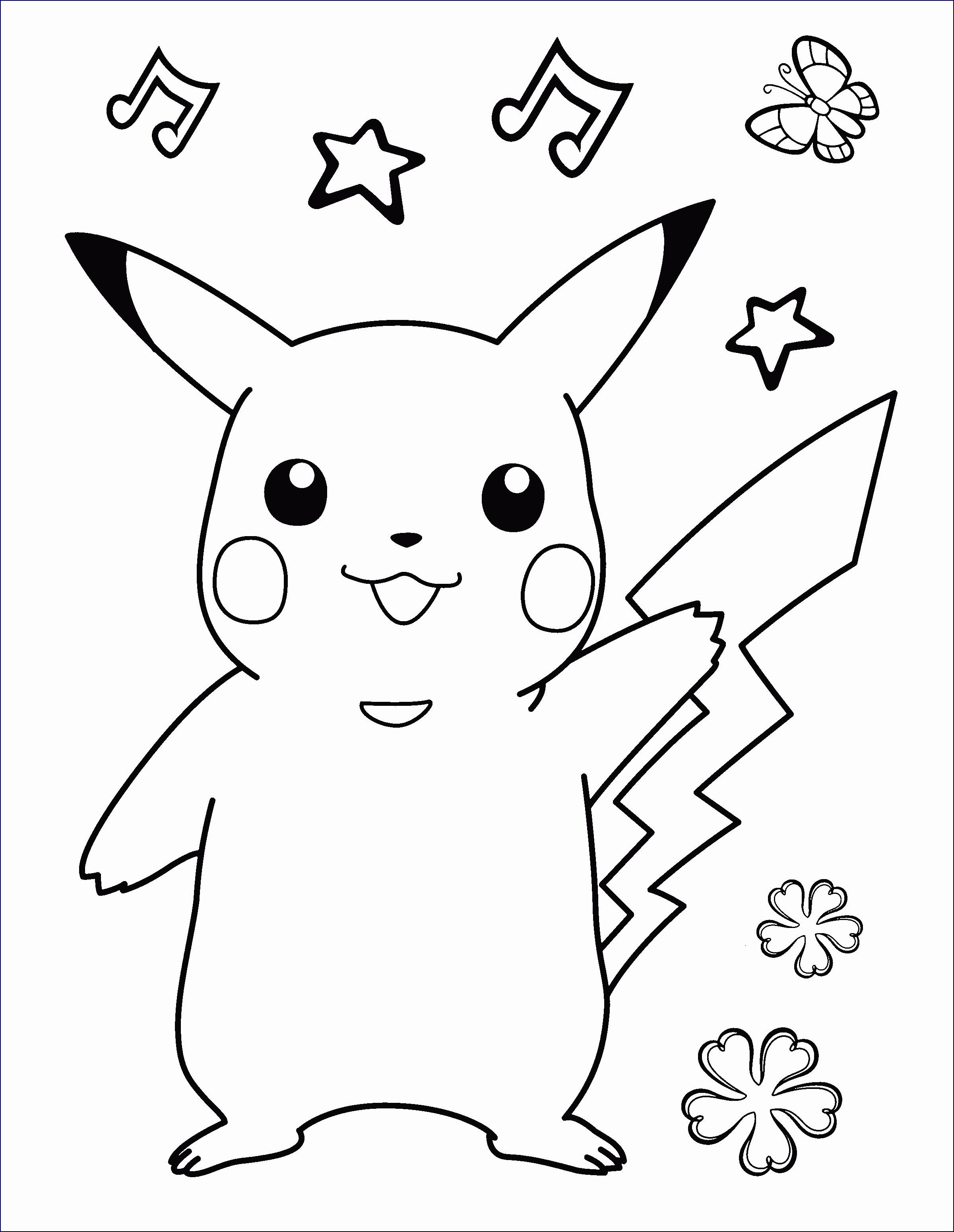 Beste 20 Ausmalbilder Pokemon Pikachu Beste Wohnkultur