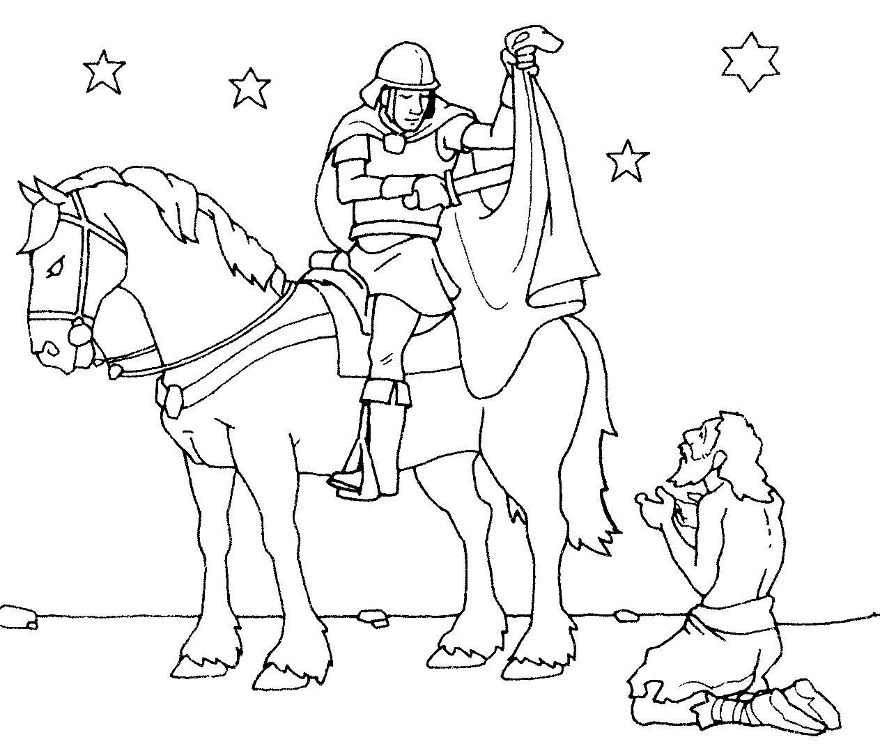 Ausmalbilder St Martin  Martin und Bettler1 1263×1081 Holidays