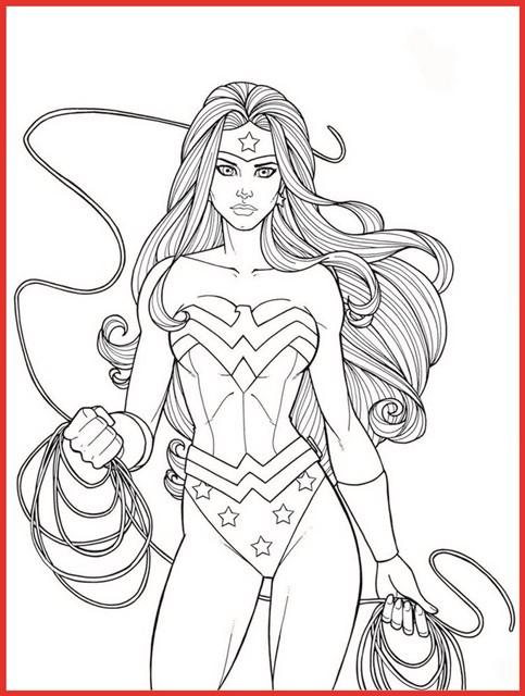 Ausmalbilder Superhelden  Weibliche Superhelden Ausmalbilder Gratis Rooms Project