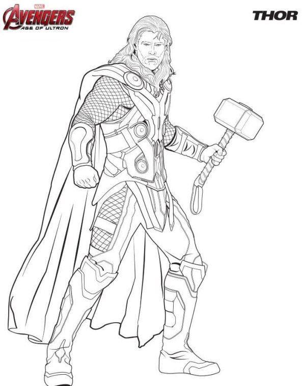 Ausmalbilder Superhelden  Ausmalbilder Avengers Thor Ausmalbilder