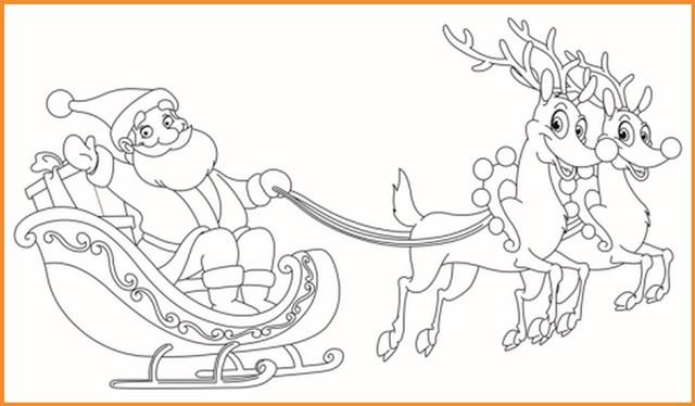 top 20 ausmalbilder weihnachtsmann mit rentierschlitten