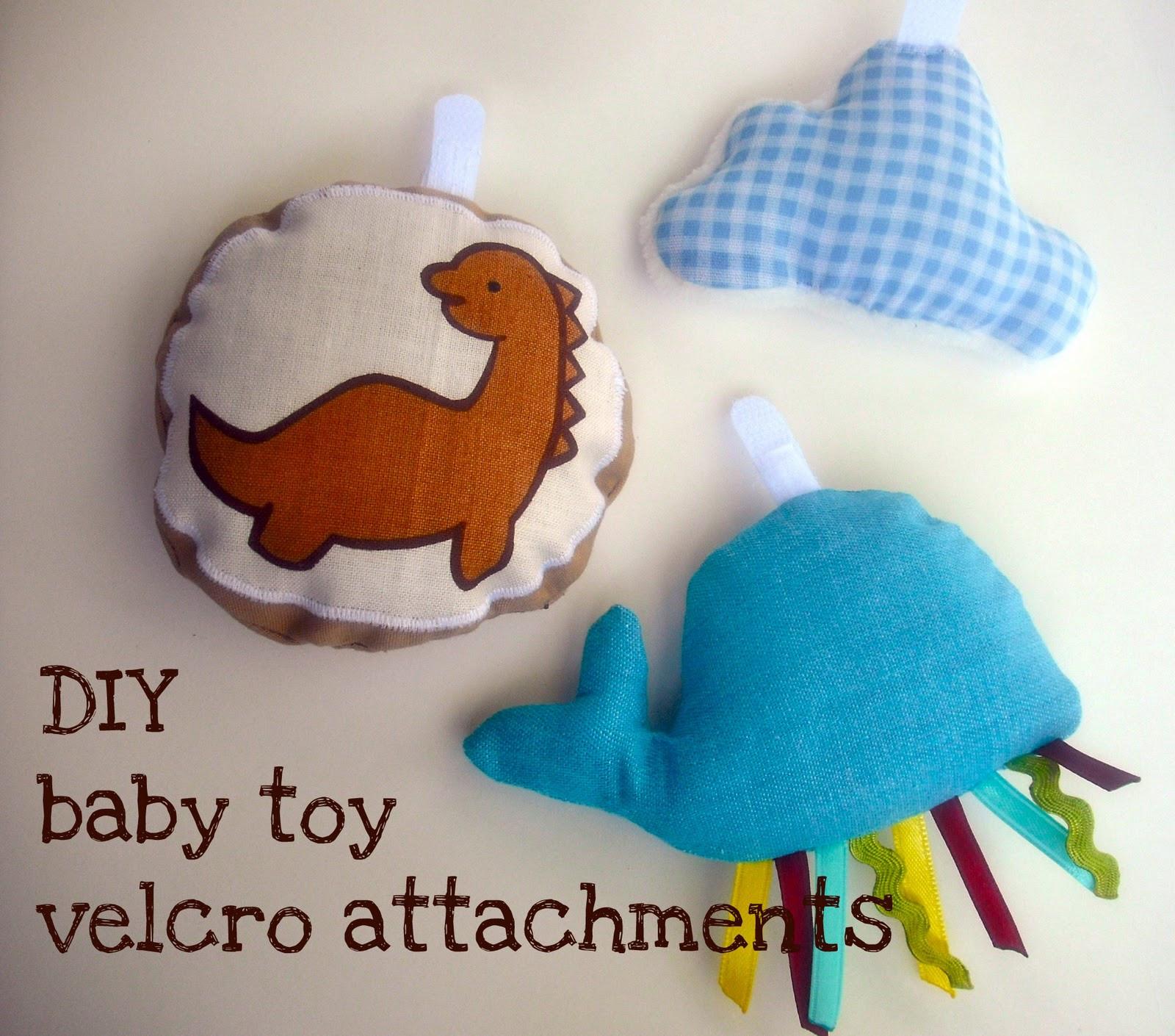 Baby Diy  bedtime tales DIY baby toy velcro attachments