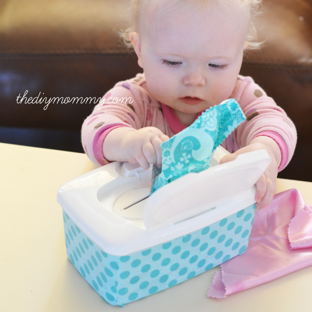 Baby Diy  Make an Easy Tactile Baby Toy from a Wipes Container