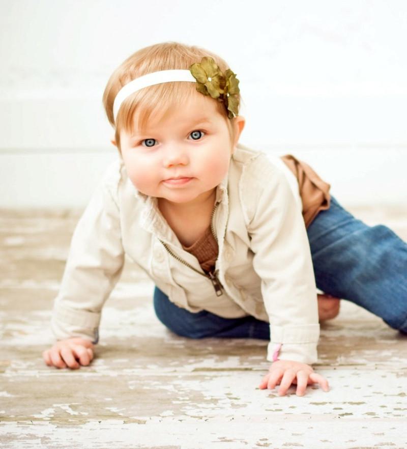 Baby Frisuren Mädchen  Kopfschmuck für Baby Mädchen – 85 Ideen für Stirnband