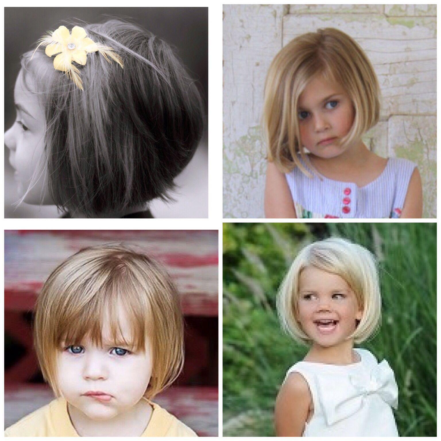 Baby Frisuren Mädchen  kurzer Kinderbob Kinderfrisuren Pinterest