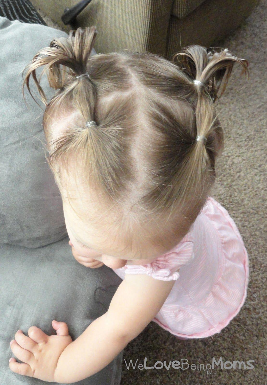 Baby Frisuren Mädchen  einfach und schnell Nine ♡ Pinterest