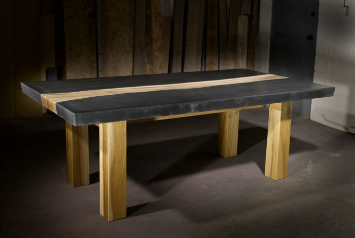 Beton Tisch Diy  Beton Tisch Eine originelle Einrichtungsidee Archzine