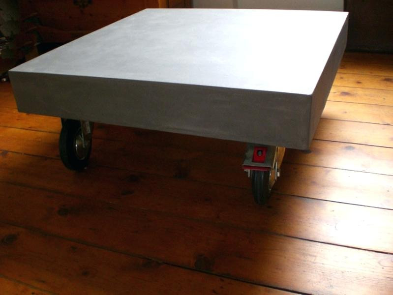 Beton Tisch Diy  Tischplatte Aus Beton Platte Versiegeln Hpl Betonoptik