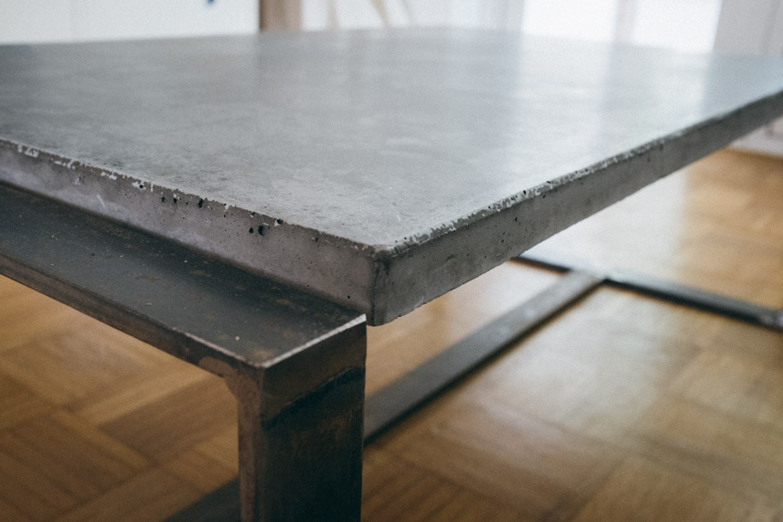 Beton Tisch Diy  Ghostbastlers – Tischplatte aus Beton