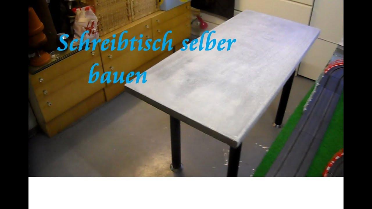 Beton Tisch Diy  DIY Tisch aus Paletten und Beton selber bauen Beton