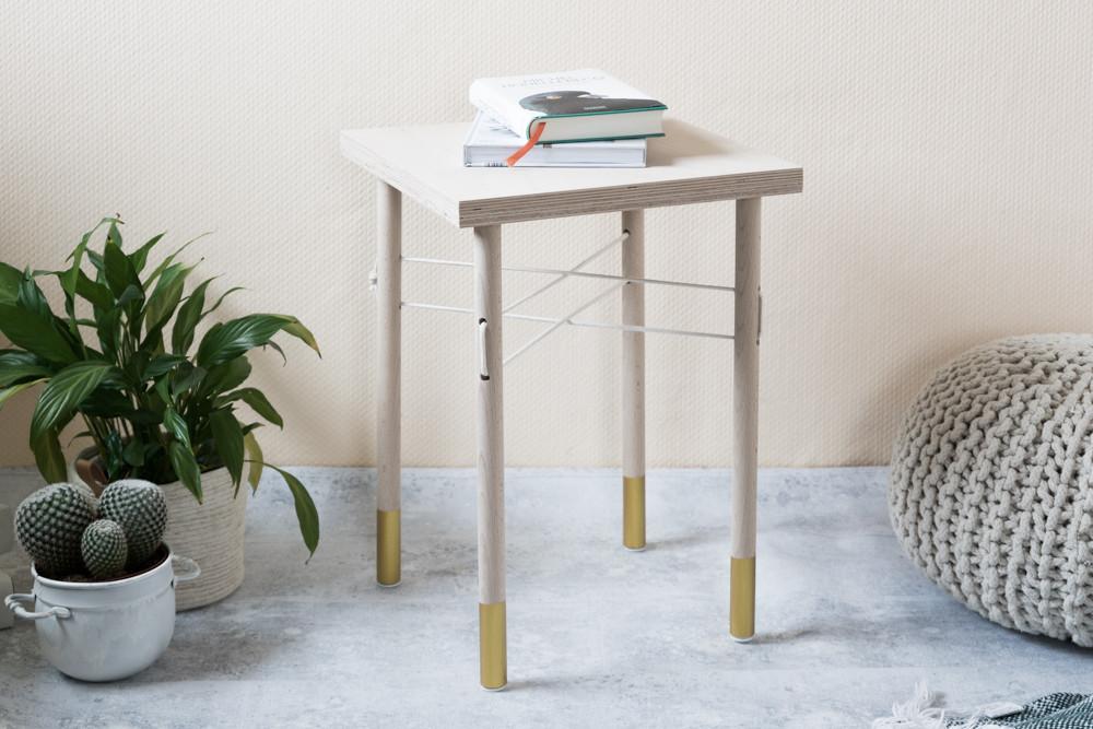 Beton Tisch Diy  Holz trifft Seil Wie man einen kleinen DIY Tisch selber