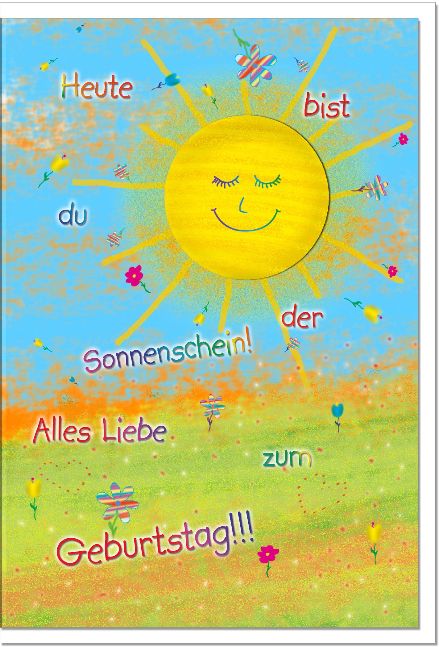 Bilder Geburtstagskarten  Geburtstagskarten Grußkarten Geburtstag Sonne