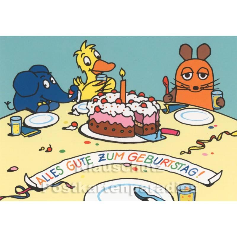 Bilder Geburtstagskarten  Die Maus feiert Geburtstag