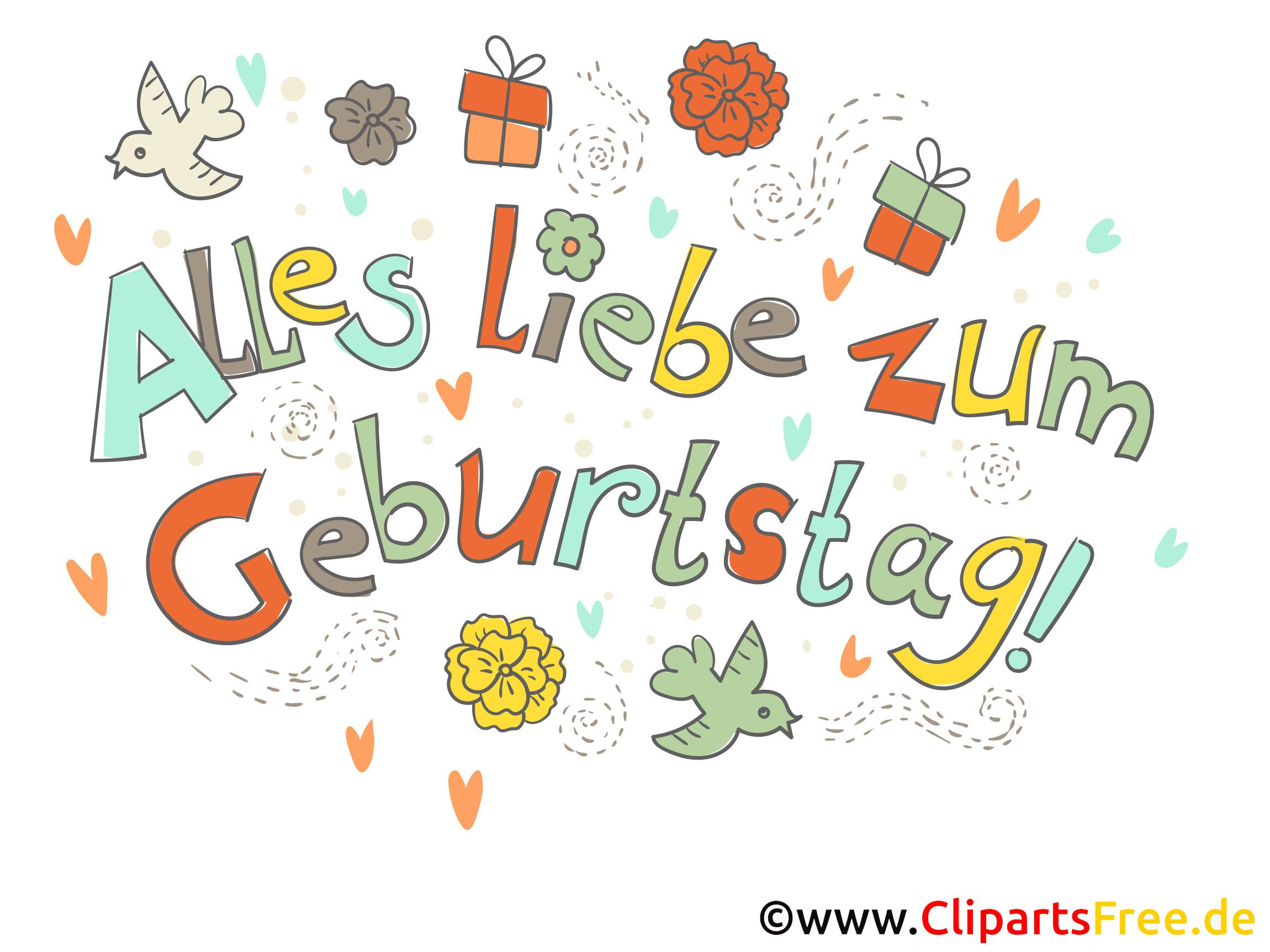 Bilder Geburtstagskarten  Geburtstagskarte Alles Gute zum Geburtstag kostenlos