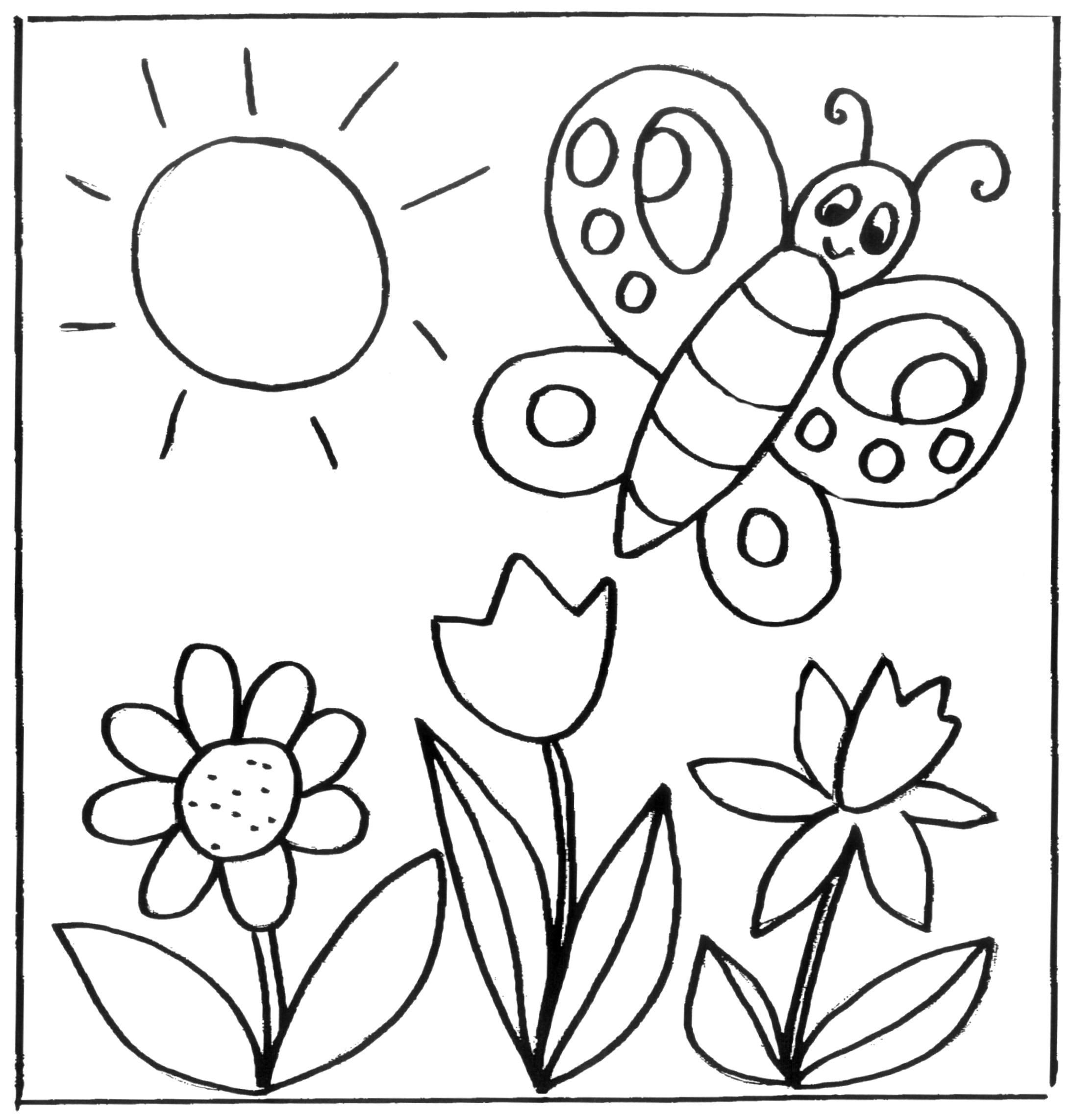 Blume Ausmalbilder  Malvorlagen Blumen kostenlose Ausmalbilder