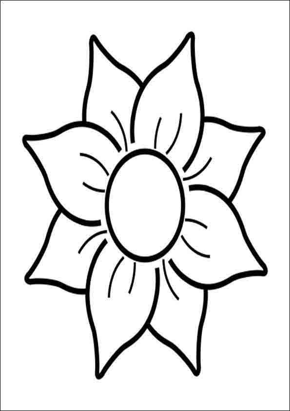 Blume Ausmalbilder  Ausmalbilder Blumen 23